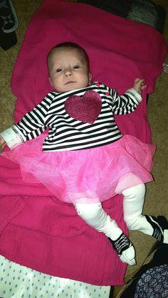 Little Sweetie with pink glitter heart❤❤❤