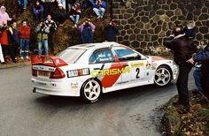 mitsubishi lancer evo4 rally monte carlo burns