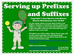 Serving up Prefixes and Suffixes!