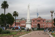 Plaza de Mayo. Where church, state, and bank meet. (gobierno, provincia, y banco nacional) and not much farther down the same avenue is the congreso.   Every Thursday. 3pm.
