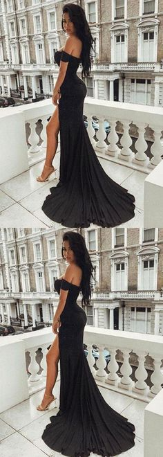 mermaid black long prom/evening dress #prom #promdress #promdresses #eveningdress #eveningdresses