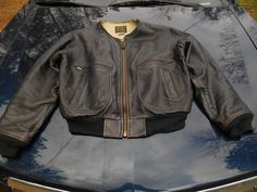 1992 Avirex Type G-2 US Navy Bureau of Aeronautics Leather Flight Jacket sz L