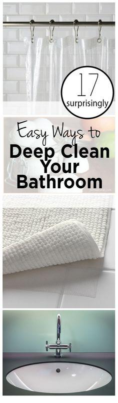 Bathroom Bathroom Cleaning Hacks DIY Home Cleaning TIps and Tricks DIY Bathroom Cleaning Popular Pin Clean Home Clutter Free Living.