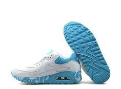separation shoes 9ef1f 76733 Nike Air Max 90 femmes blanc bleu