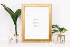 Styled Stock Photography  Gold Styled Frame  by JustLikeMyDesktop