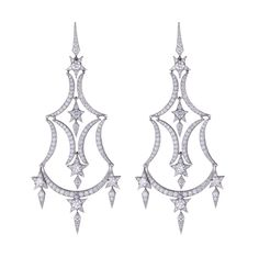 Stephen Webster Couture Midnight Over The Caspian Sea Diamond Earrings.
