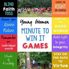 Such fun ideas for a young women's activity.
