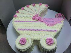 Baby buggy cake #luckytreats #babyshower
