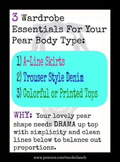 If you are shaped like Jennifer Love Hewitt, Alicia Keys, Beyonce or Kim Kardashian then you are a gorgeous pear shape! Think triangle...narrower shoulders than hips and a small waist. If you gain weight, it tends to go to your bottom half. Yep, that's you! With this being the most common body type among women, you are in good company. Don't listen to those who say you can't wear skinny jeans! You just have to know HOW to wear them for your shape.