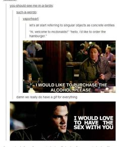 """They have a GIF for definite articles:   Definitive Proof That The """"Supernatural"""" Fandom Has A GIF For Everything"""
