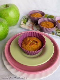 Trufa blanca: Magdalenas de harina de coco y manzana SIN GLUTEN. www.cocinopaleo.blogspot.com