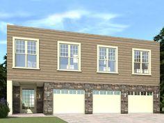 052G-0008: 3-Car Garage Apartment Plan with Spacious Living Area