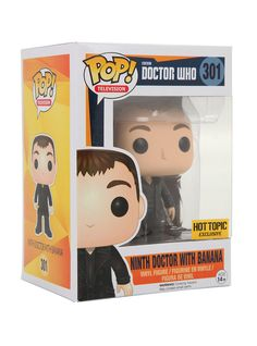 FUNKO POP DR WHO Ninth Doctor With Banana #301 HOT TOPIC EXCLUSIVE