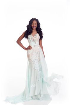 Zuleica Wilson Miss Angola evening dress for Miss Universe.