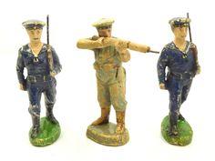 6 Militär Masse Figuren 4 davon Elastolin Figuren Höhe ca. 6,5-10,5 cm /795 | eBay