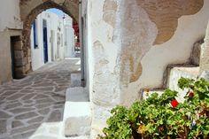 Alleys in Venetian Castle, in Antiparos island
