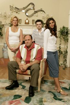 The Sopranos family from the wildly popular HBO drama series 'The Sopranos.' The series ran from 1999 through 2007 and starred Edie Falco (from left), James Gandolfini, Robert Iler and Jamie-Lynn Sigler.