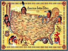 Explore America 500 piece jigsaw puzzle series from Master Pieces featuring Native American Tribes on a map of America from the original painter Bill Stroble. Finished puzzle size: 19 x