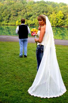 Blue jean wedding Jeans Wedding, Bike Wedding, Blue Jean Wedding, Autumn Inspiration, Blue Jeans, Wedding Ideas, Cheese, Bride, Wedding Dresses