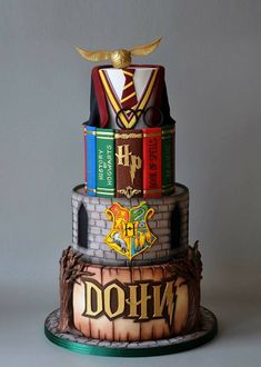 Birthday Surprise Ideas For Her Harry Potter 67 Ideas For can find Harry potter cakes and more on our website.Birthday Surprise Ideas For Her Harry Potter 67 Ideas For 2019 Harry Potter Desserts, Bolo Harry Potter, Gateau Harry Potter, Harry Potter Wedding Cakes, Harry Potter Birthday Cake, Harry Potter Food, Harry Potter Theme, Harry Potter Book Cake, Harry Potter Cupcakes