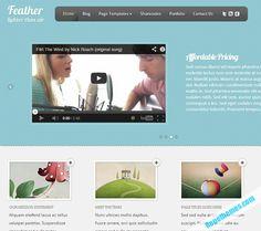 Feather - Professional of best portfolio Wordpress themes