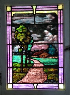 Stained Glass Window in a Brentwood Home
