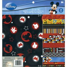 EK SICCESS-Disney Paper Pad. This package contains twenty-four 12x12in Mickey papers: two each of twelve designs. Imported.