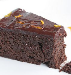 chocolate orange garbanzo bean cake... I mean, that sounds kinda gross, but i'd be willing to try it.