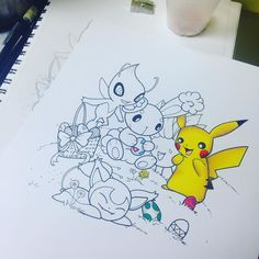 Got a chance to start working on this today! Who knows I might have it finished by Easter lol #art #myart #pokemon #love #loveit #anime #manga #cute #game #videogame #nintendo #gamefreak #3ds #pikachu #yoshi #buneary #togepi #skitty #celebi #oddish #instaart #instaink #instagood #instalove #prismacolor #coloredpencils #instadaily #potd #picoftheday #easter by techno.vert