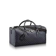 Discover Louis Vuitton Roadster: Roadster, a modern city bag, in Damier Graphite canvas with leather trim, has a distinctive urban spirit. It combines volume and functionality due to a top closure with double zipper and padlock.