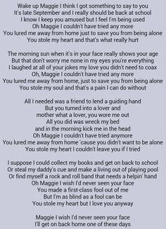 Rod Stewart . Maggie May