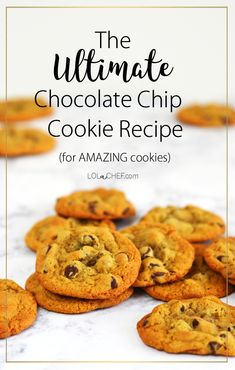 Grab your Free recipe pdf ebook with this amazing chocolate chip cookie recipe now! Ultimate Chocolate Chip Cookies Recipe, Recipe Tips, Food Now, Recipe Community, Food Hacks, Nutella, Free Food, Cookie Recipes, Delicious Desserts