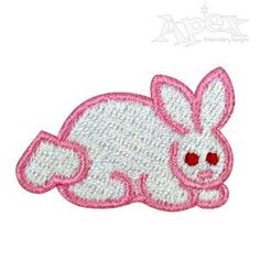 "Cute Bunny Rabbit Embroidery Design. You get 2 bunny designs one with polka dots one without. Great machine sewing pattern for Easter or spring Size: 1.59"" x 1.06"""