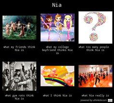What do you think Nia is? Not that I think its rainbows and unicorns, but whatever your bliss is, that's what nia is to me.