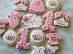 2 dozen royal princess first birthday от NatSweetsCookies на Etsy