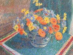James Bolivar Manson - A still life of summer flowers in a pottery bowl on a table | Flickr - Photo Sharing! Description from flickr.com. I searched for this on bing.com/images