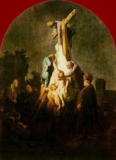 "Rembrandt Van Rijn ""Deposition from the Cross"" Alte Pinakothek, Munich Chiaroscuro, Art Du Temps, Renaissance Kunst, Baroque Painting, Dutch Golden Age, Hieronymus Bosch, Biblical Art, Free Art Prints, Dutch Painters"