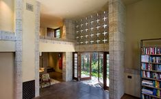 Frank Lloyd Wright. Concrete Block period. Millard House in Pasadena. 1923.