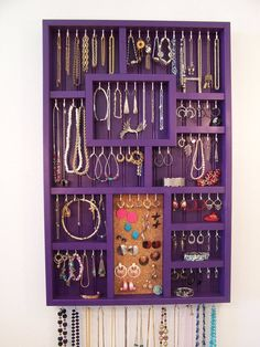 I want this one 32 inches tall, 21 inches wide, 2 3/4  Jewelry Organizer For The Wall Display Your by barbwireandbarnwood