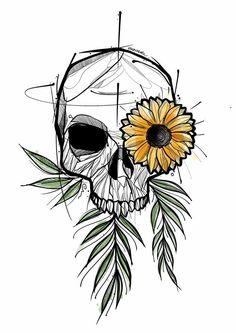 Ideas Piercing Body Fun For 2019 Dark Art Drawings, Pencil Art Drawings, Art Drawings Sketches, Tattoo Drawings, Body Art Tattoos, Skull Drawings, Skull Tattoos, Inspiration Art, Art Inspo