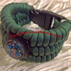 Ultimate Survival Bracelet 550 paracord compass, fire gear, fishing kit, whistle