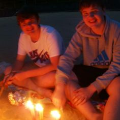 Us on a beach BBQ.. down at the local beach in Ryde Isle of Wight
