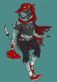 Terezi Pyrope aka BAE not bar Homestuck Characters, Homestuck Trolls, Fictional Characters, Home Stuck, The Revenant, Post Apocalypse, Deadpool, Fan Art, Deviantart