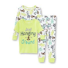 WonderKids Infant & Toddler Girl's Graphic Pajama T-Shirt Top & Pants - Zoo Animals - Baby - Baby & Toddler Clothing - Sleepwear