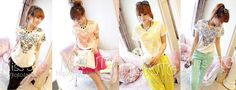 10912 -black, red, yellow, blue - Blouse, fit to M - 80