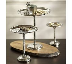 Hammered Metal Jewelry Trays, Set of 3 #potterybarn
