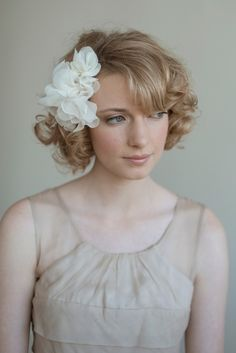 Another great chiffon and net flower style from MyraKim of Etsy.