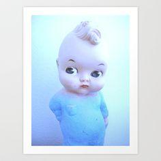 DOLL Art Print by Vintage Cuteness Kewpie, Disney Characters, Fictional Characters, Weird, Art Prints, Dolls, Disney Princess, Cool Stuff, Cute
