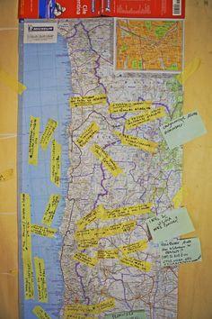 Mappa del viaggio di Francesco Pedrini
