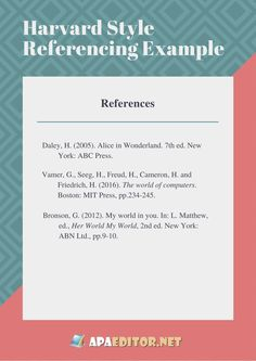 harvard referencing style sample paper